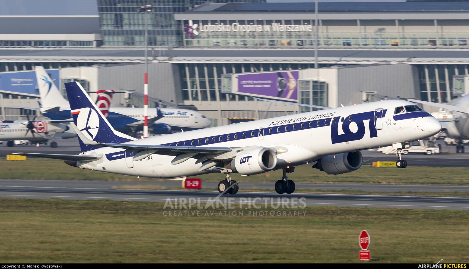 LOT - Polish Airlines SP-LNA aircraft at Warsaw - Frederic Chopin