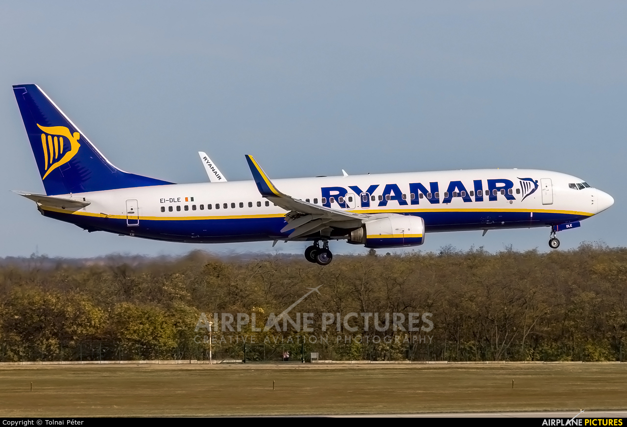 Ryanair EI-DLE aircraft at Budapest Ferenc Liszt International Airport