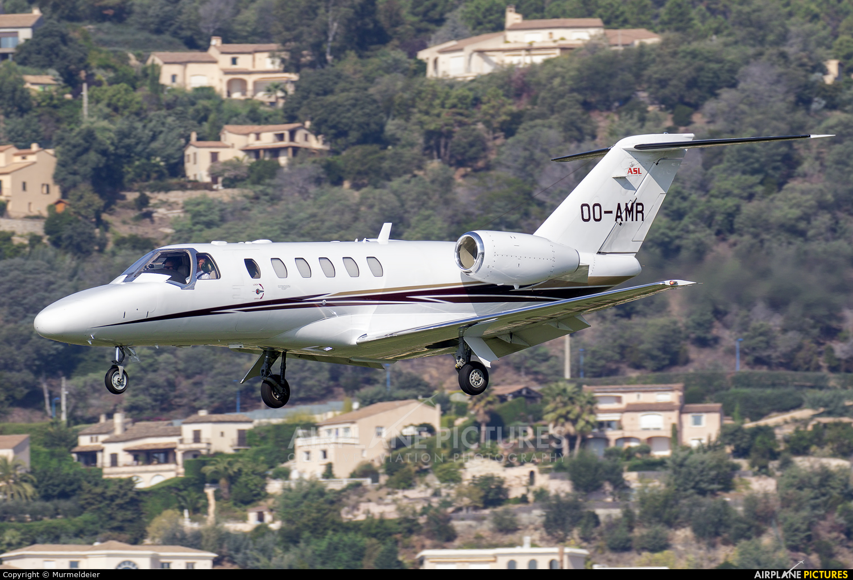 Air Service Liege OO-AMR aircraft at Cannes - Mandelieu