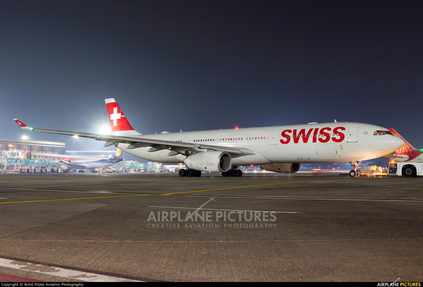 Swiss HB-JHH aircraft at Mumbai - Chhatrapati Shivaji Intl