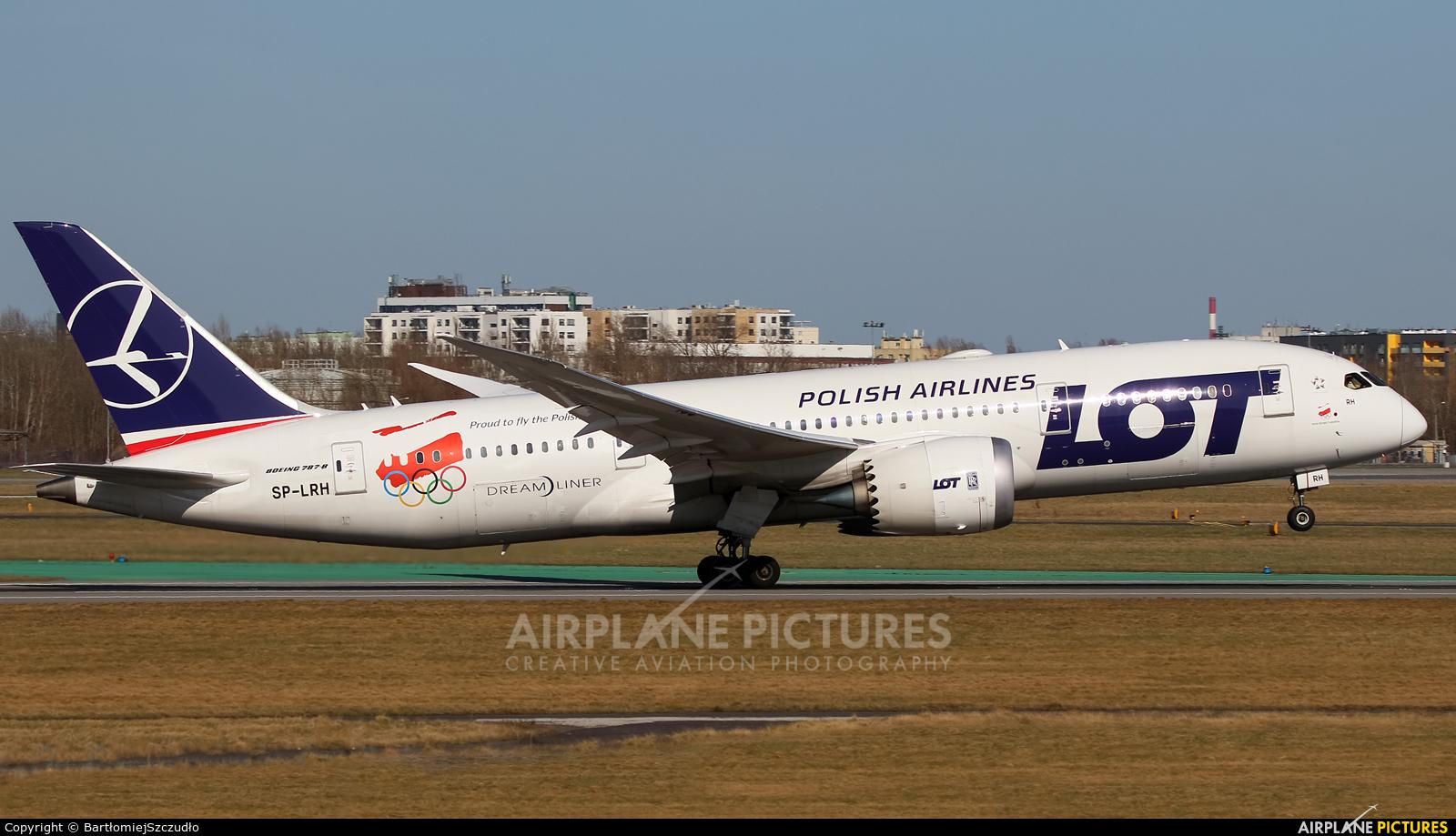 LOT - Polish Airlines SP-LRH aircraft at Warsaw - Frederic Chopin