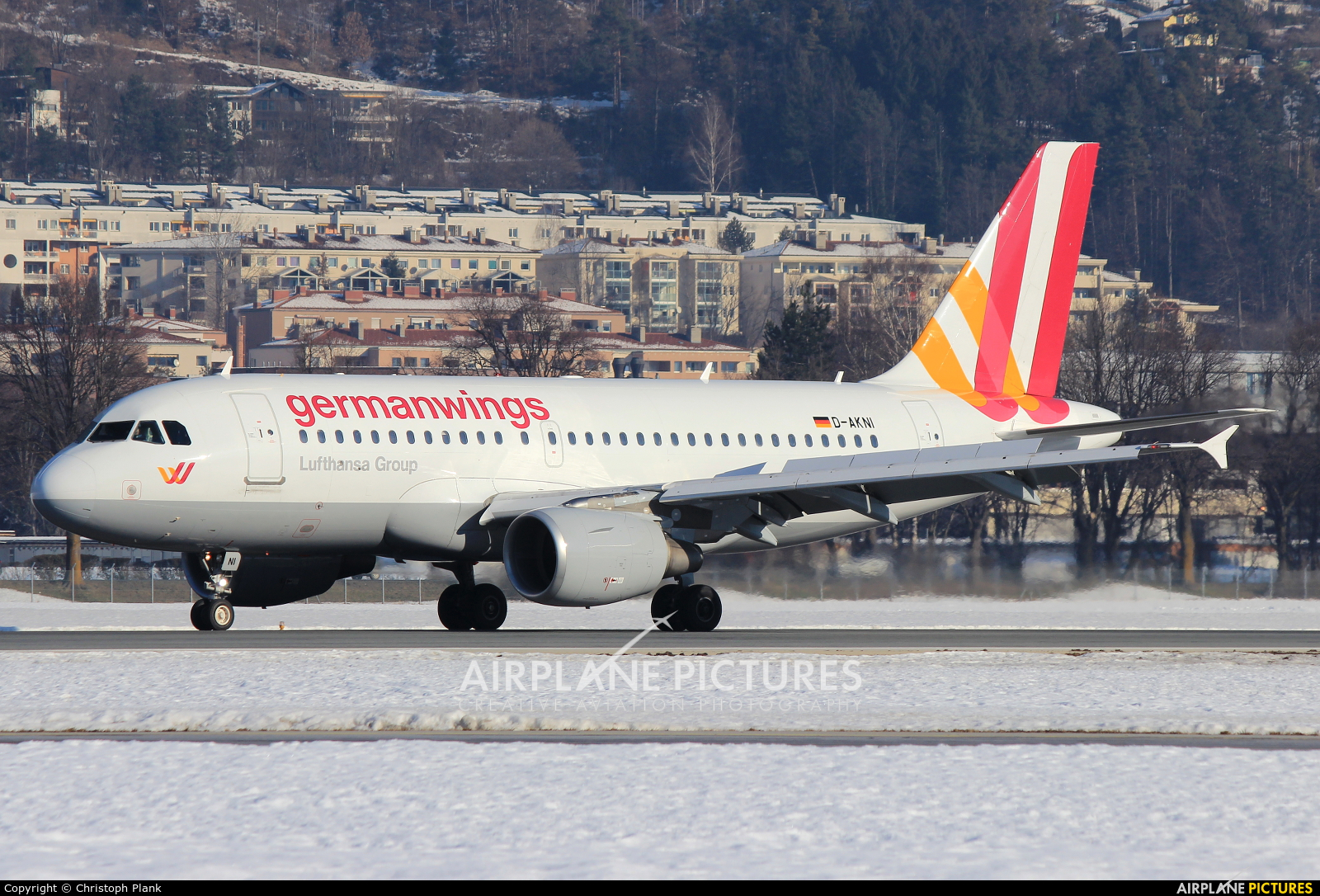 Germanwings D-AKNI aircraft at Innsbruck