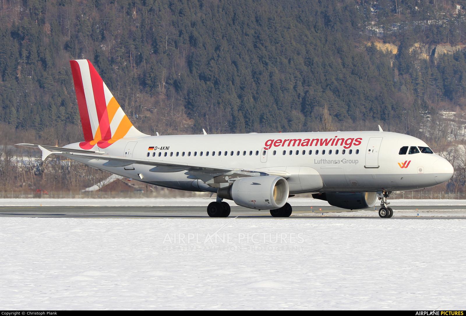 Germanwings D-AKNI aircraft at Innsbruck