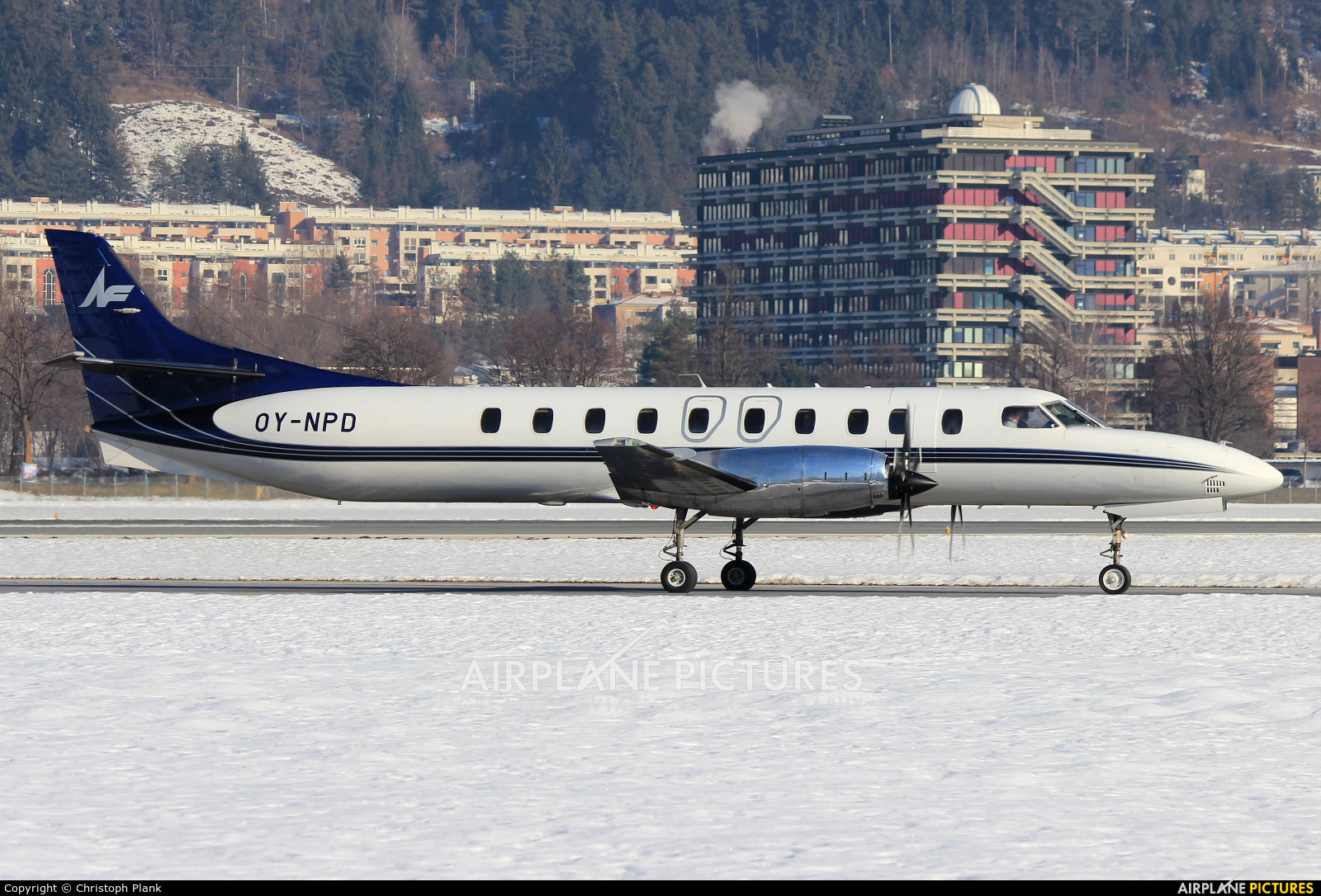 North Flying OY-NPD aircraft at Innsbruck