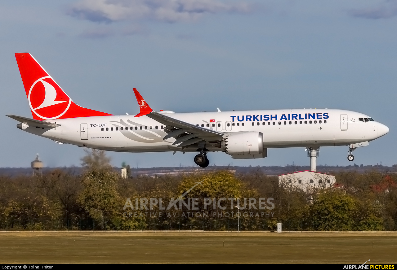 Turkish Airlines TC-LCF aircraft at Budapest Ferenc Liszt International Airport