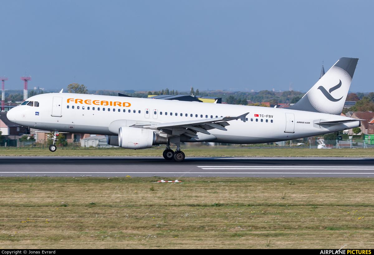 FreeBird Airlines TC-FBV aircraft at Brussels - Zaventem