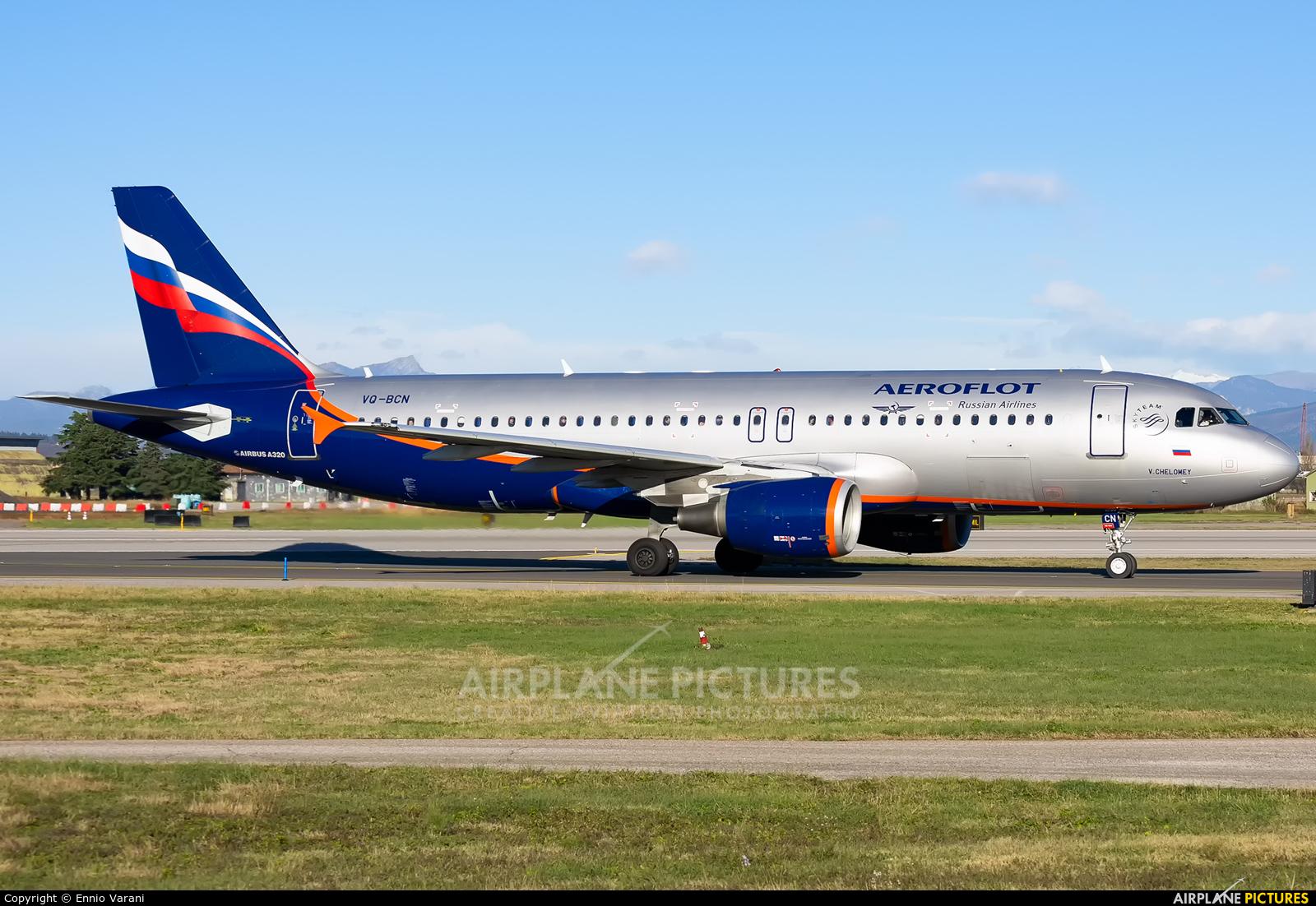 Aeroflot VQ-BCN aircraft at Verona - Villafranca