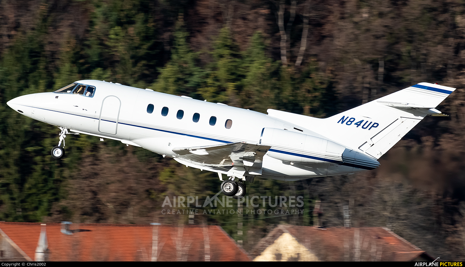 Private N84UP aircraft at Innsbruck
