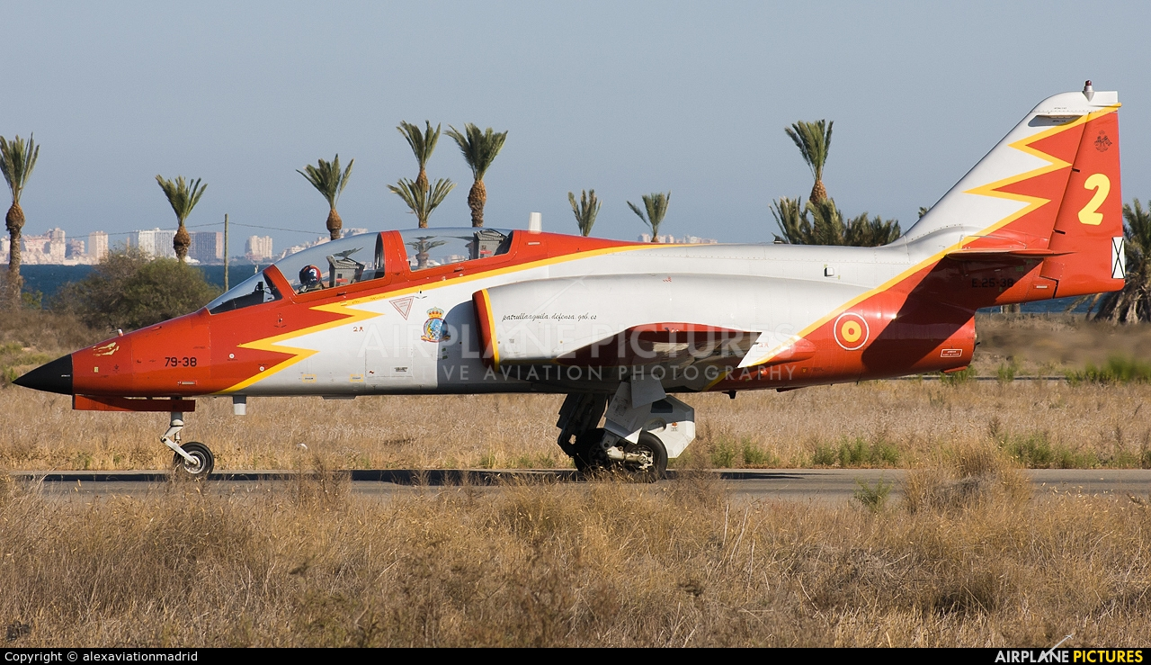 Spain - Air Force E.25-38 aircraft at Murcia - San Javier