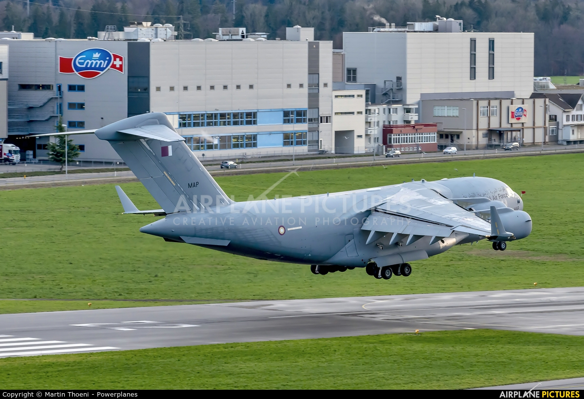 Qatar Amiri - Air Force A7-MAP aircraft at Emmen