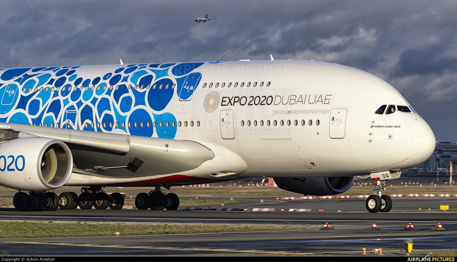 Emirates Airlines A6-EOQ aircraft at Frankfurt