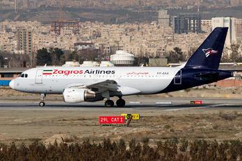 EP-ZAX - Zagros Air Airbus A319