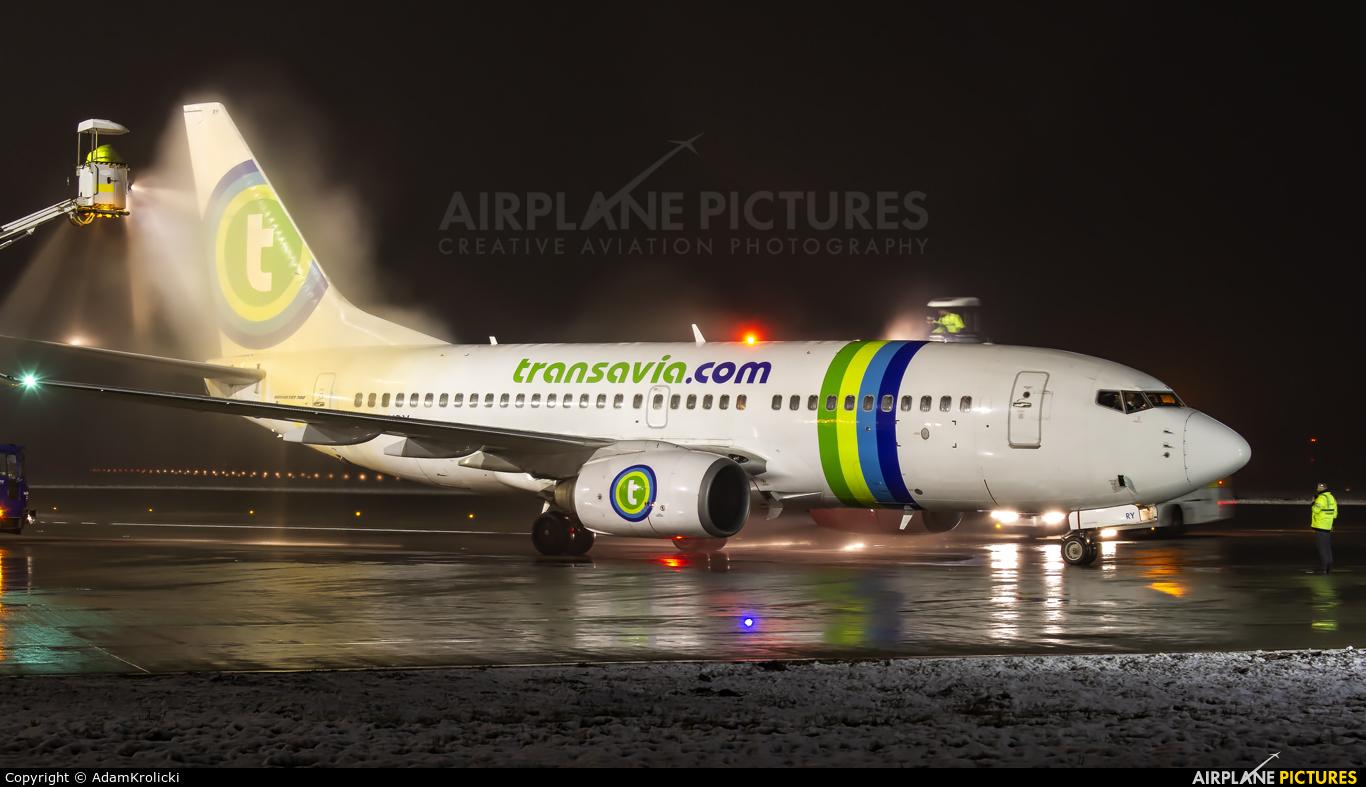 Transavia PH-XRY aircraft at Katowice - Pyrzowice