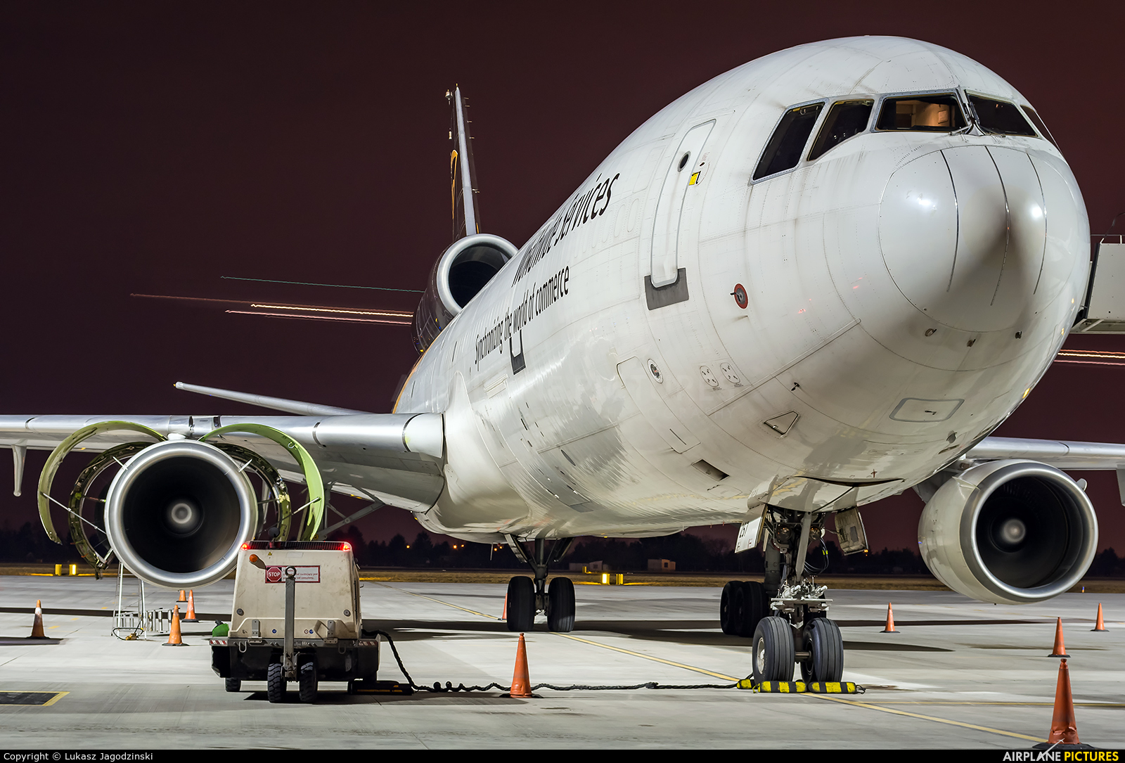 UPS - United Parcel Service N257UP aircraft at Warsaw - Frederic Chopin