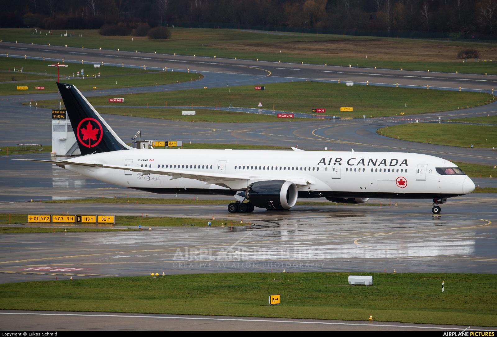Air Canada C-FVNB aircraft at Zurich