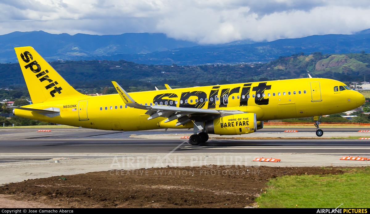 Spirit Airlines N650NK aircraft at San Jose - Juan Santamaría Intl
