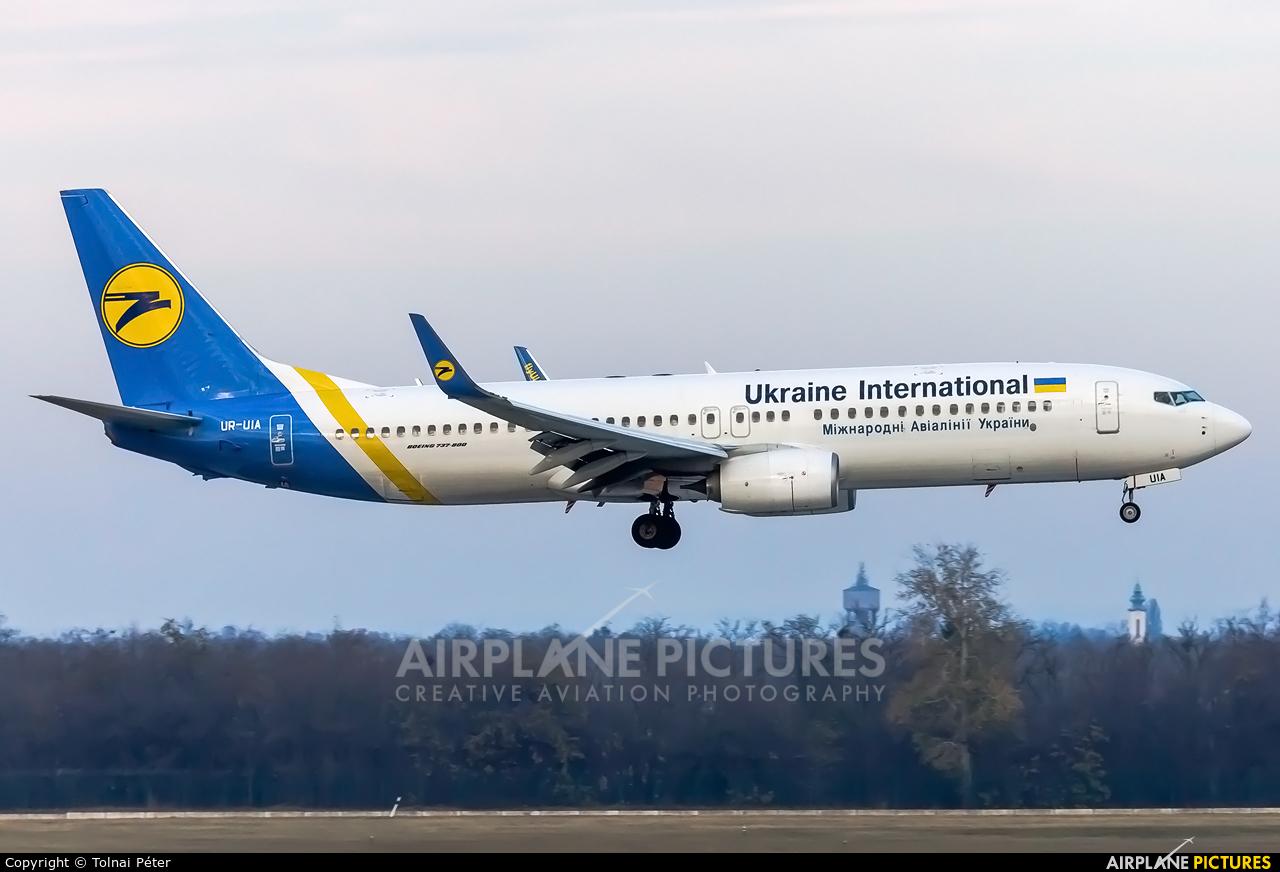 Ukraine International Airlines UR-UIA aircraft at Budapest Ferenc Liszt International Airport