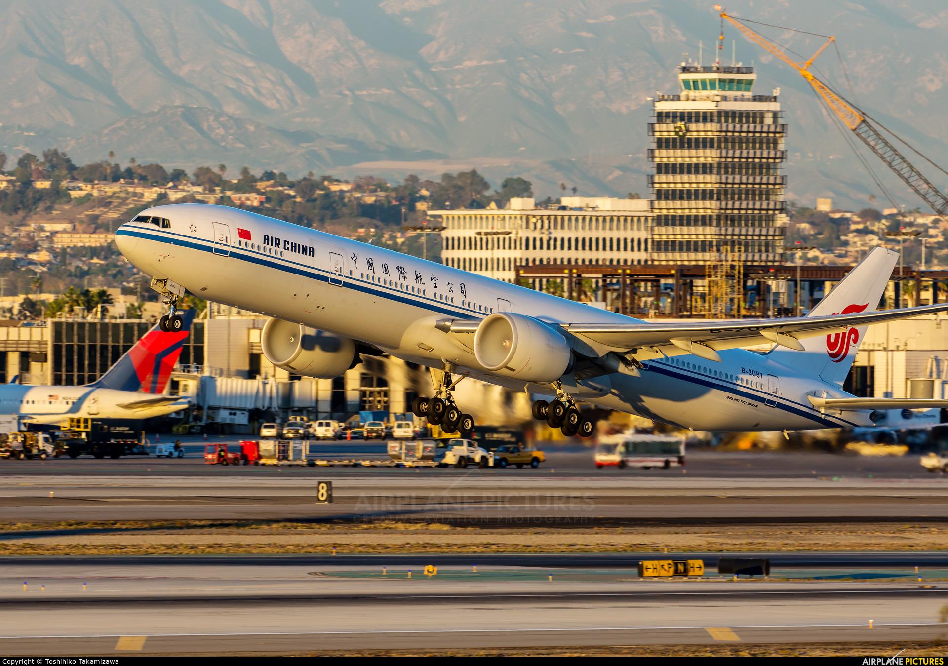 Air China B 2087 Aircraft At Los Angeles Intl