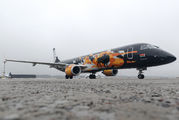 "New ""World of Tanks"" livery on Belavia Embraer 195 title="