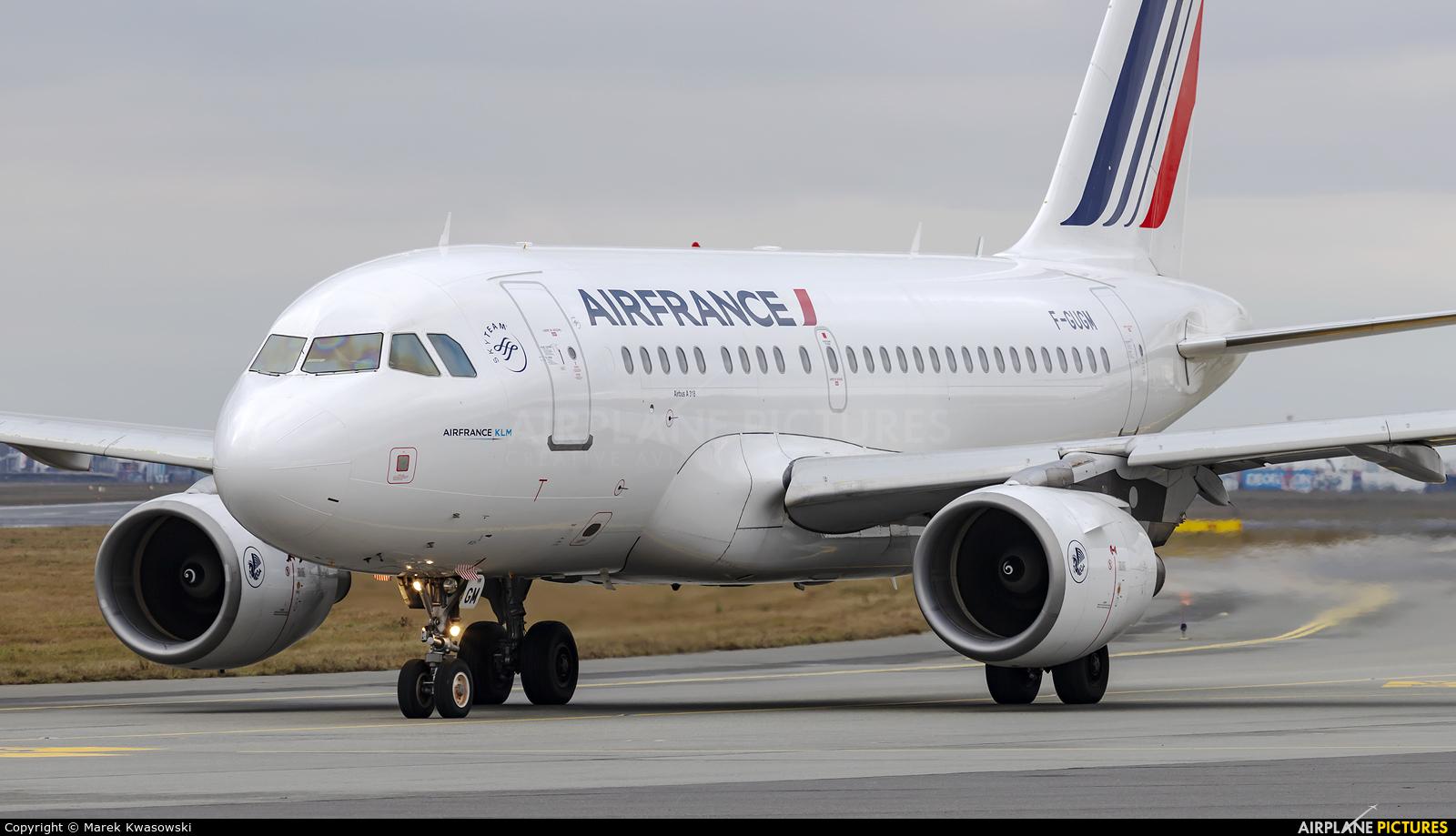 Air France F-GUGM aircraft at Warsaw - Frederic Chopin