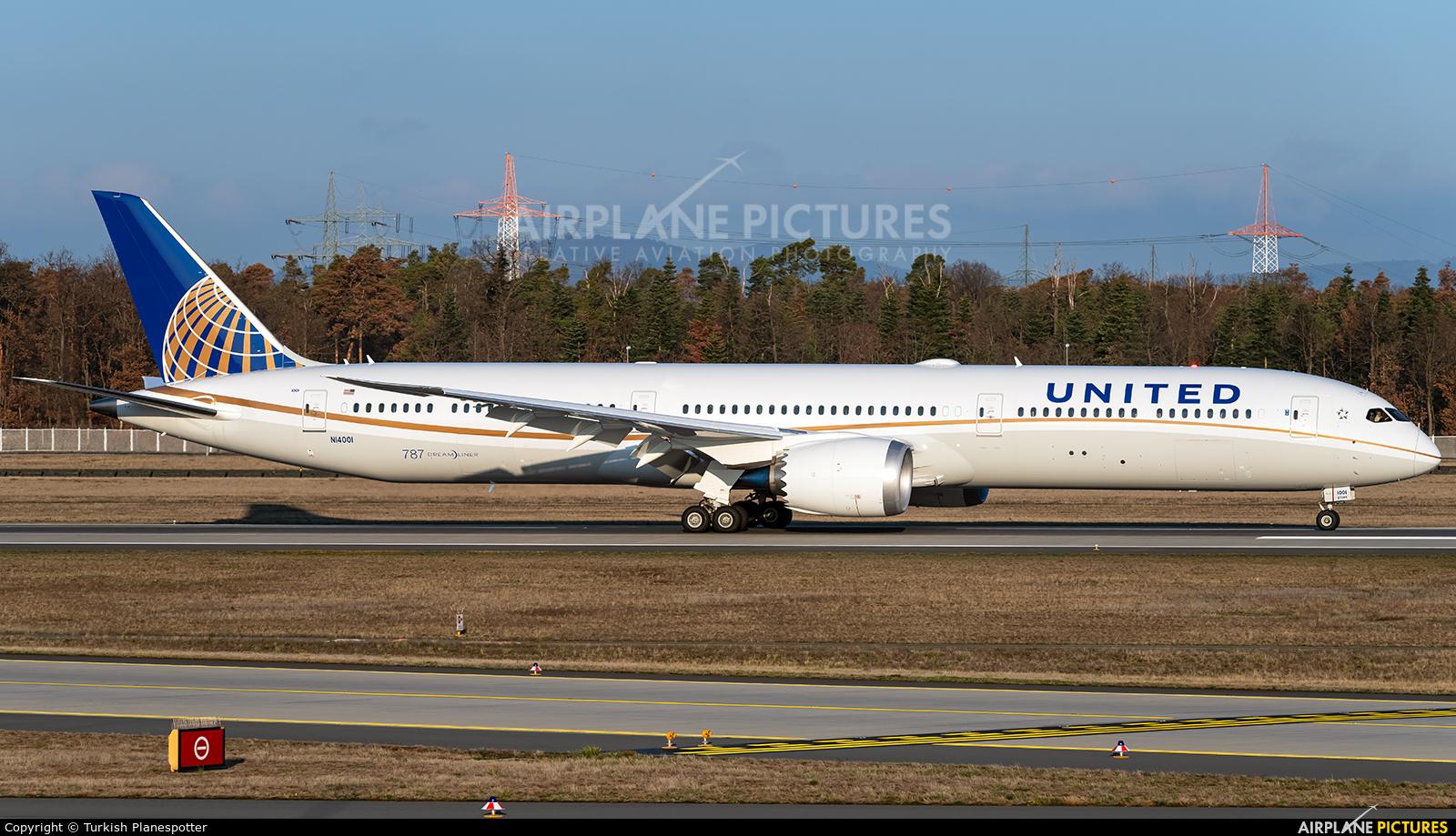 United Airlines N14001 aircraft at Frankfurt