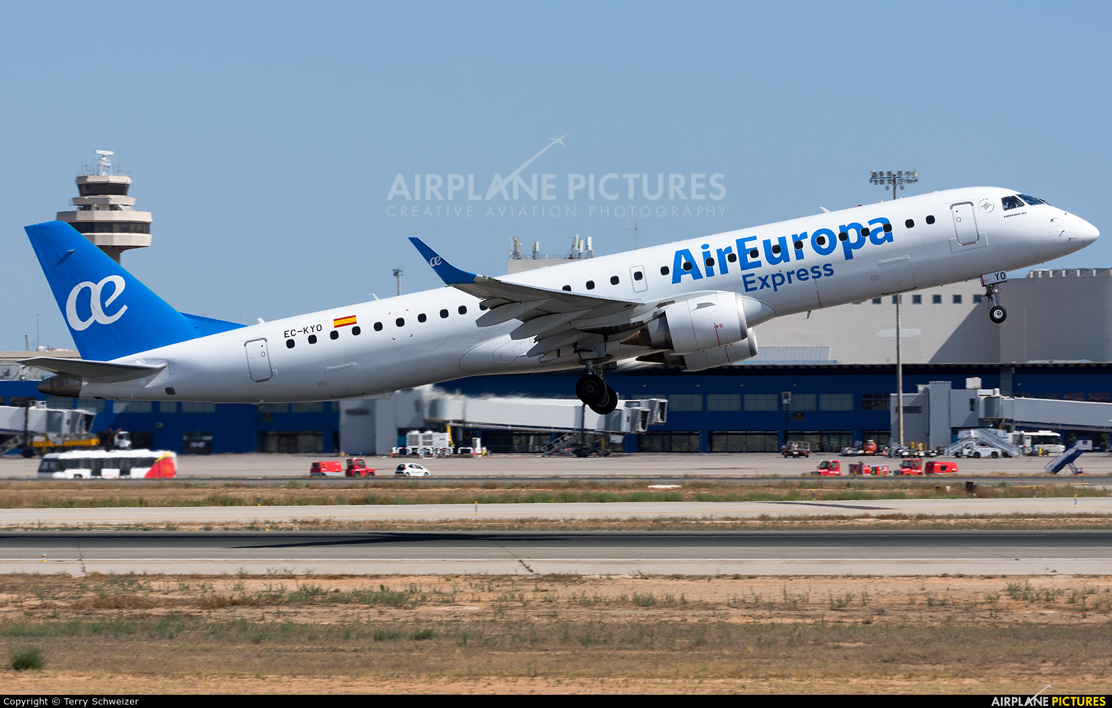 Air Europa Express EC-KYO aircraft at Palma de Mallorca