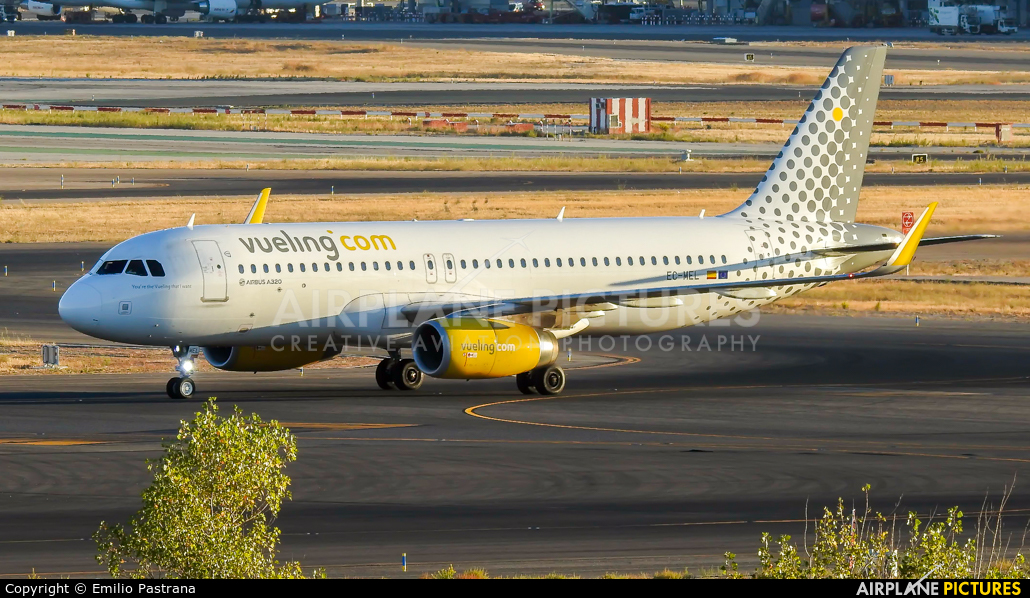 Vueling Airlines EC-MEL aircraft at Madrid - Barajas