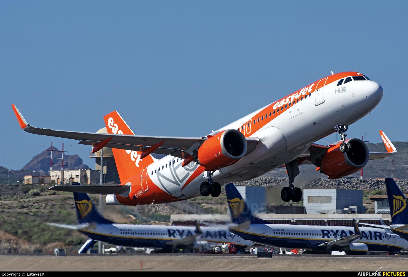 easyJet G-UZHC aircraft at Tenerife Sur - Reina Sofia