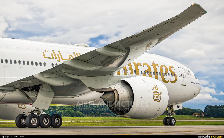 Emirates Airlines A6-EWC aircraft at São Paulo - Guarulhos