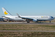 "Neos Boeing 767 wears ""Moonflower"" special livery title="