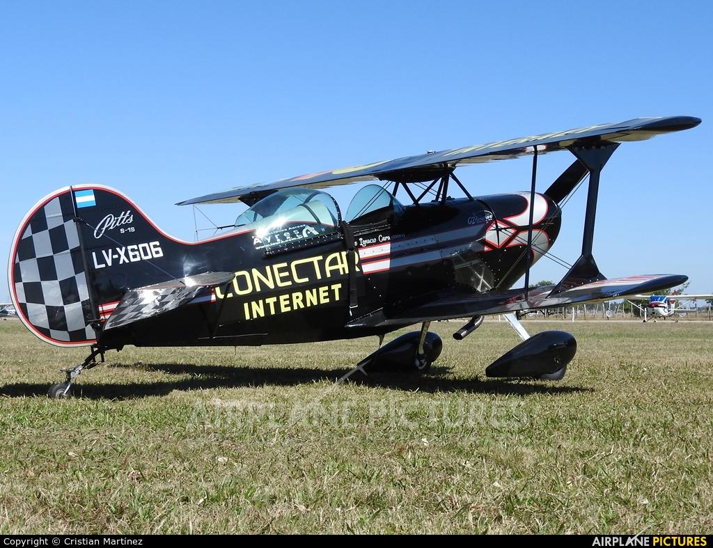 Private LV-X606 aircraft at Santa Fe - Villa Ocampo