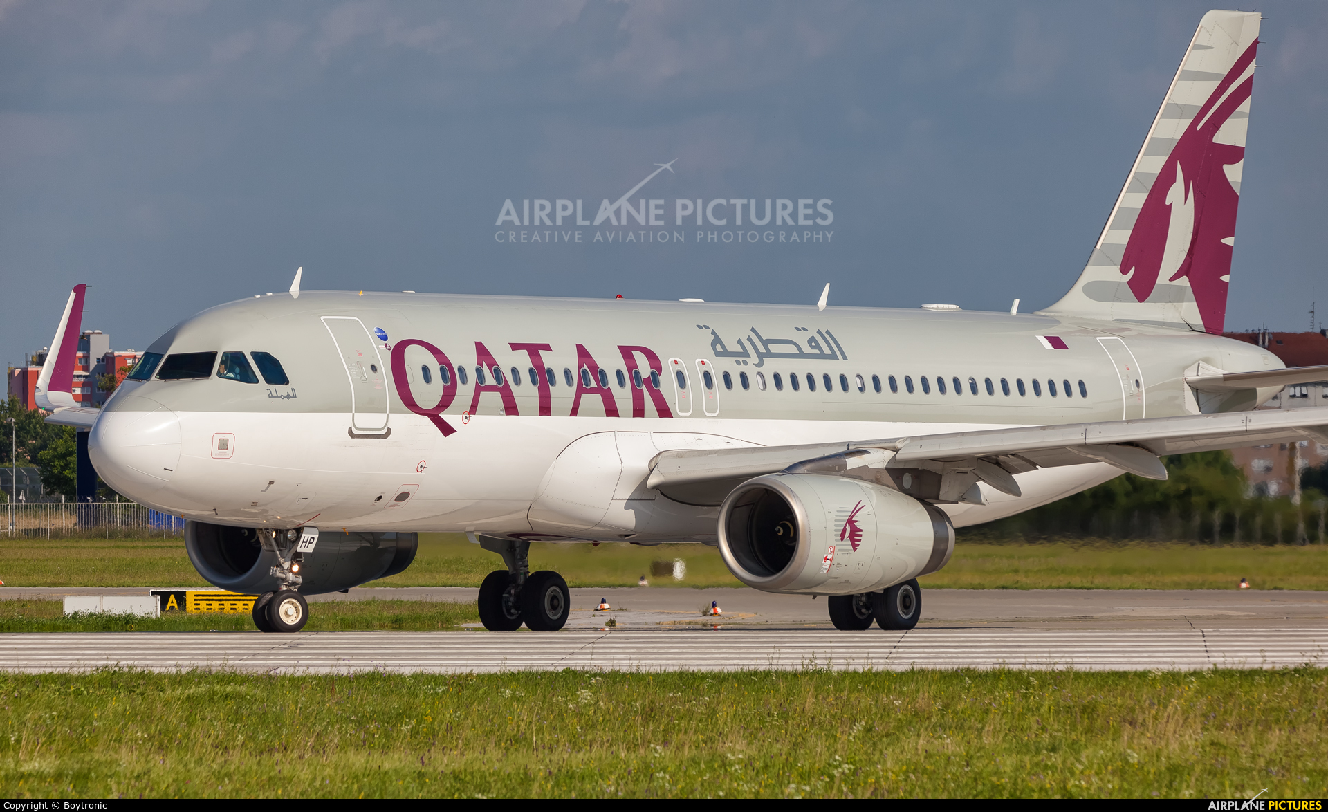 Qatar Airways A7-AHP aircraft at Zagreb