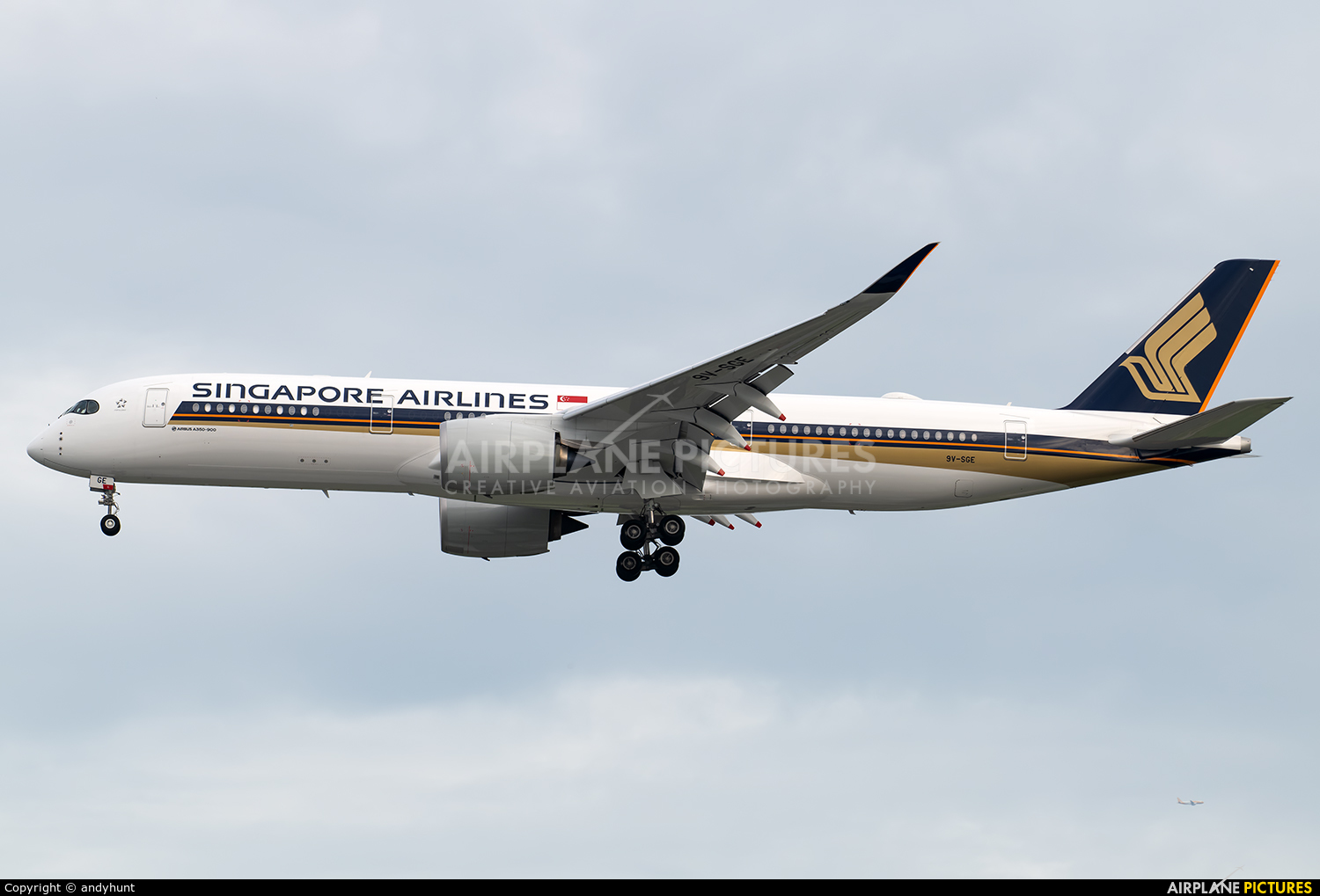 Singapore Airlines 9V-SGE aircraft at Singapore - Changi