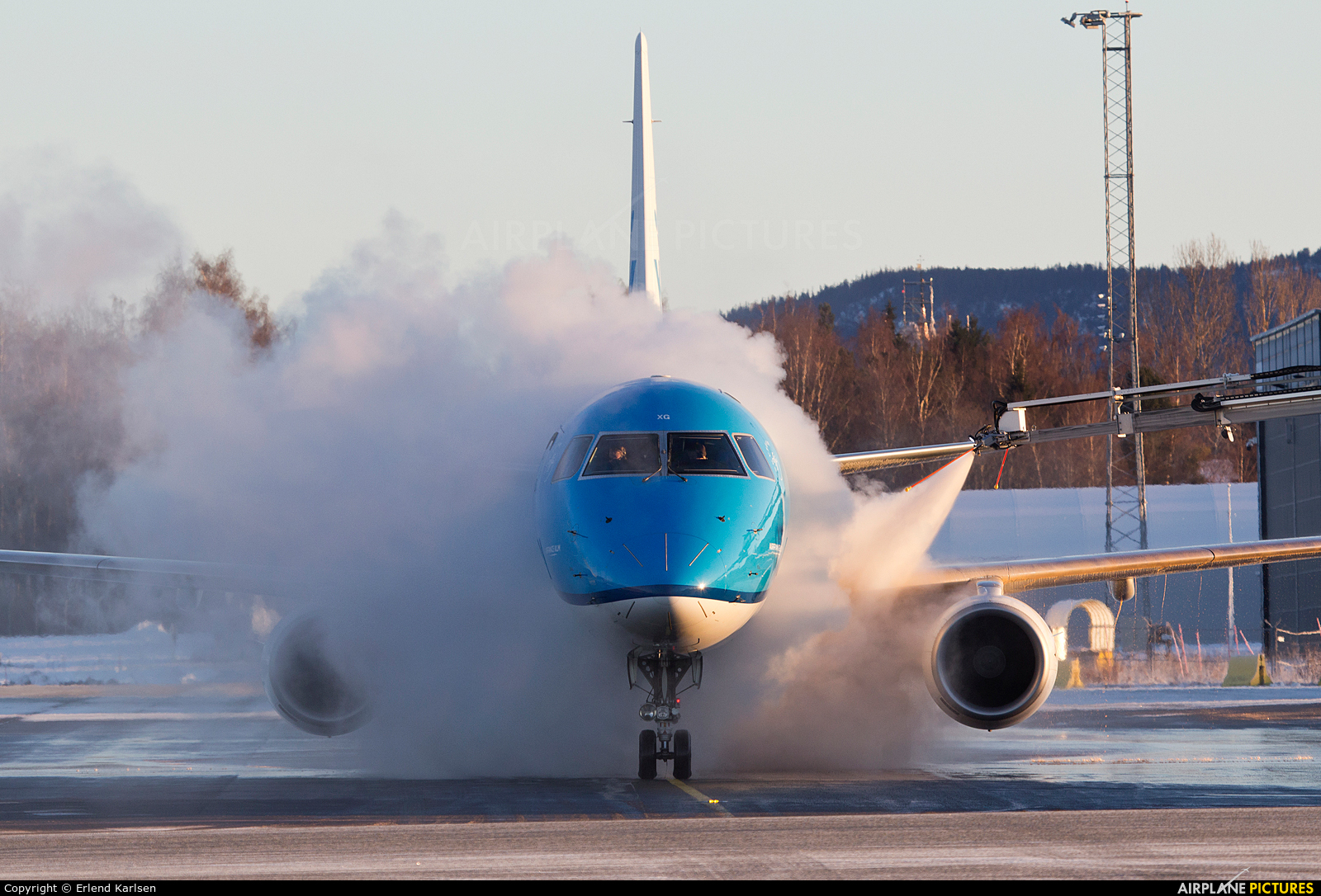 KLM Cityhopper PH-EXG aircraft at Trondheim - Vaernes