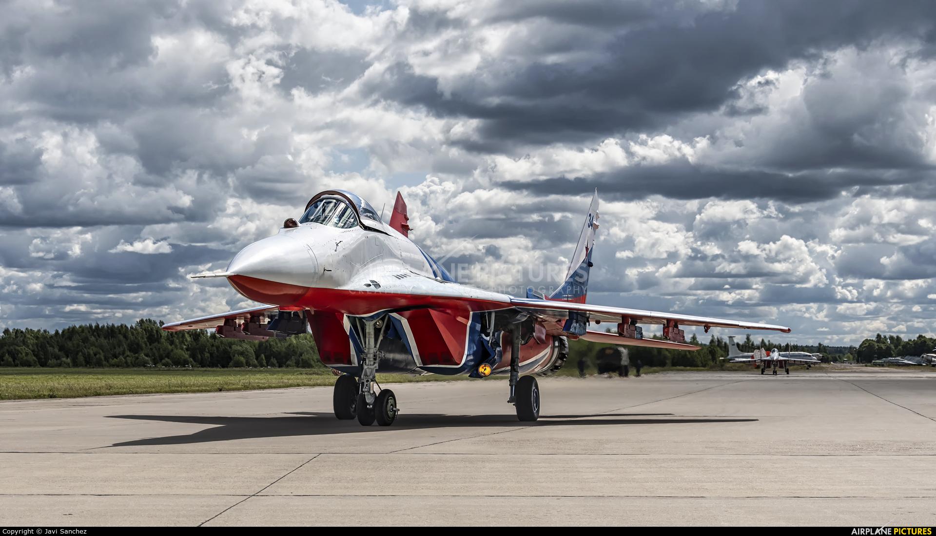 """Russia - Air Force """"Strizhi"""" RF-92134 aircraft at Kubinka"""