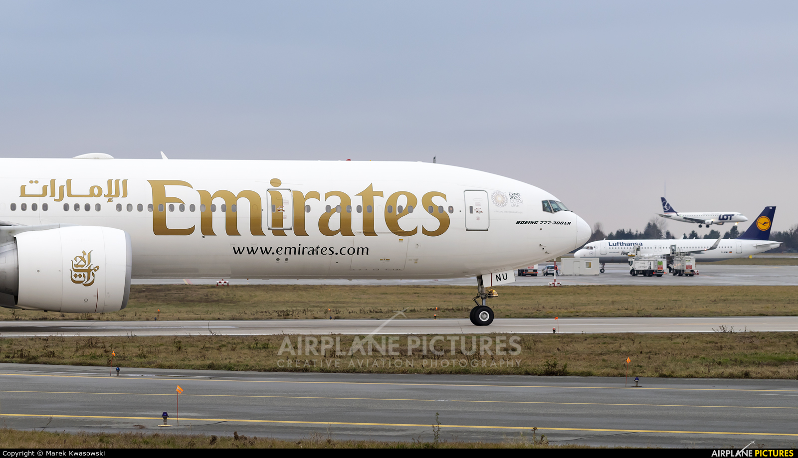 Emirates Airlines A6-ENU aircraft at Warsaw - Frederic Chopin