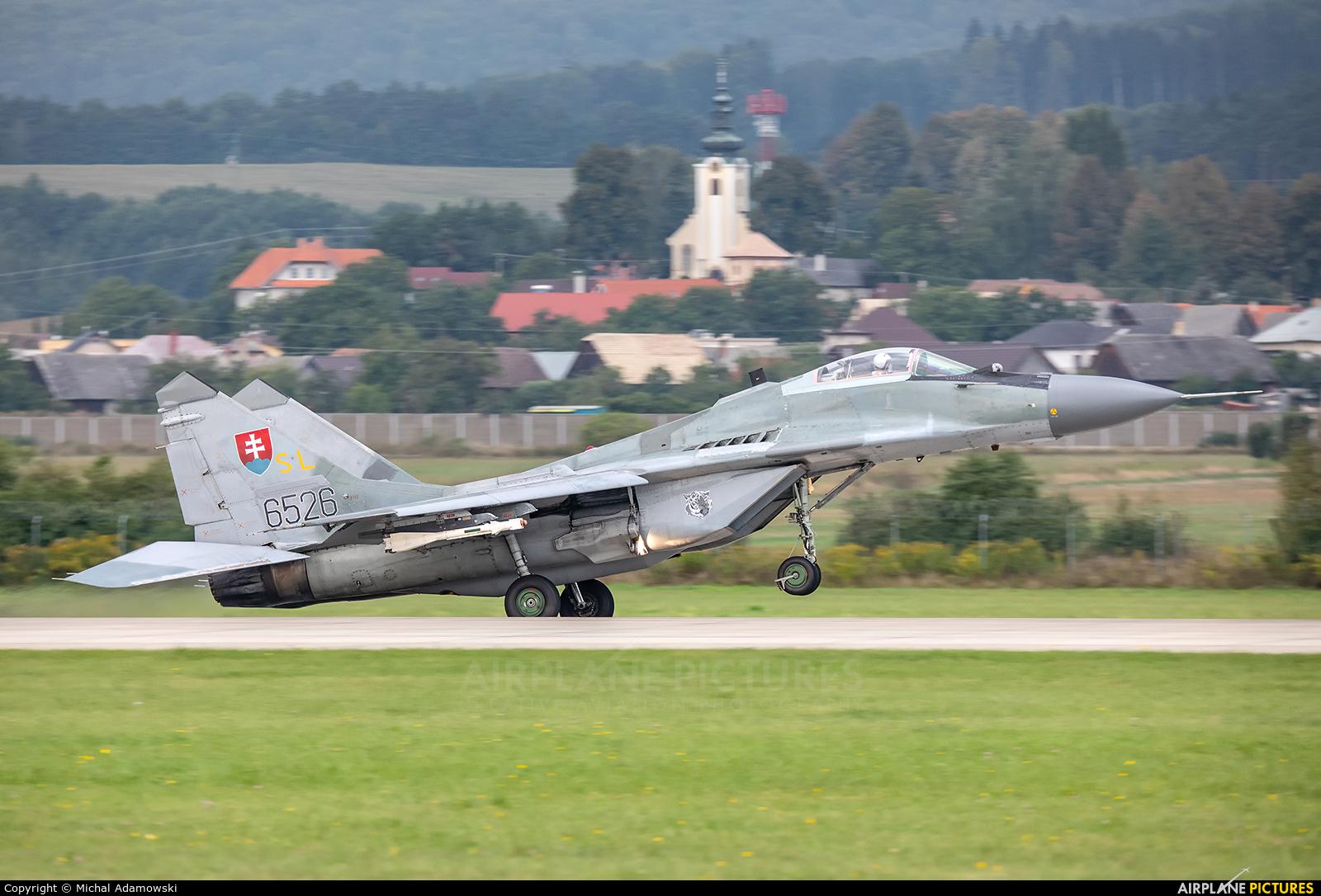 Slovakia -  Air Force 6526 aircraft at Sliač
