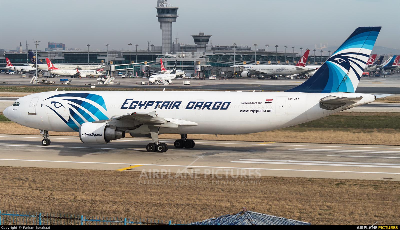 Egyptair Cargo SU-GAY aircraft at Istanbul - Ataturk