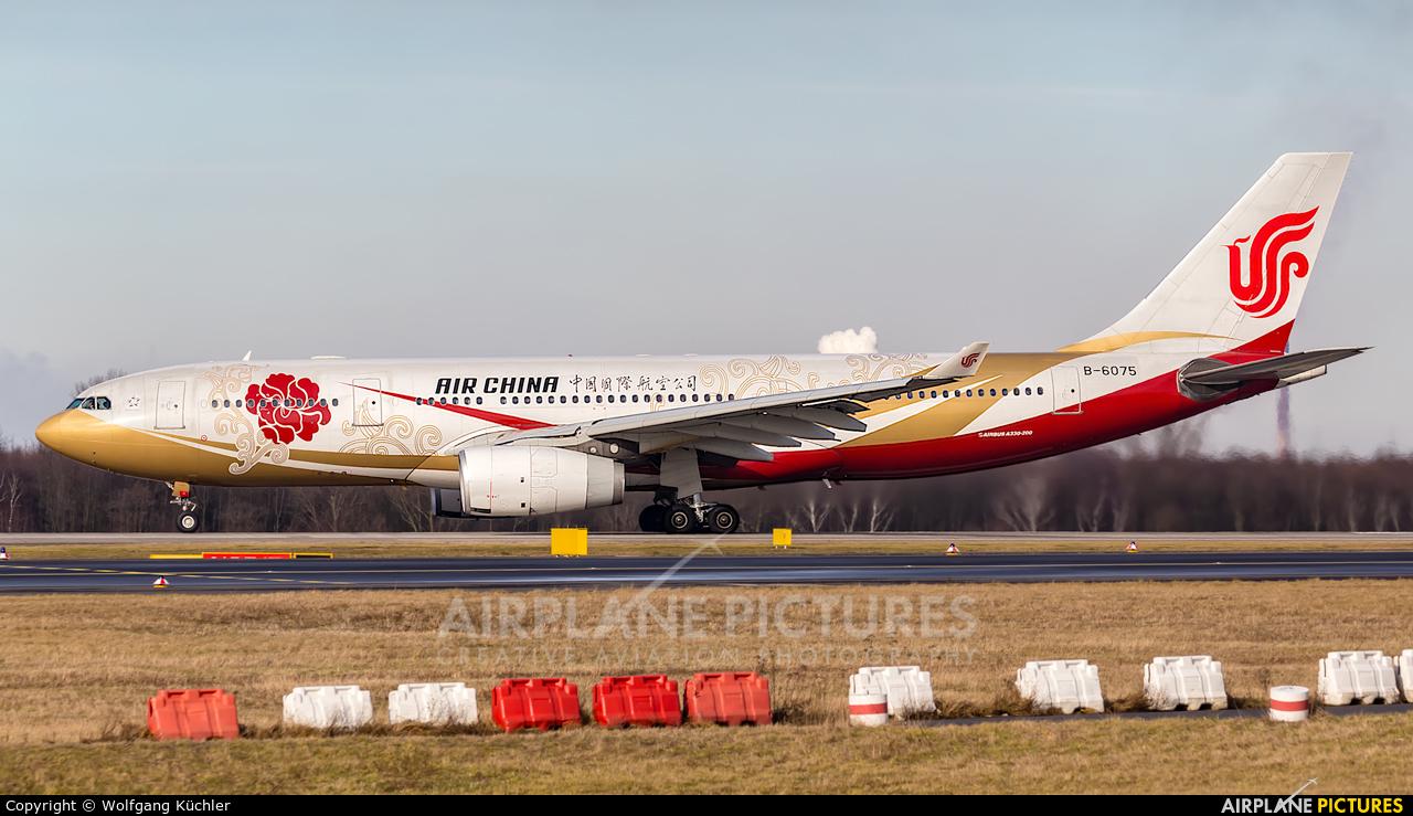Air China B-6075 aircraft at Düsseldorf