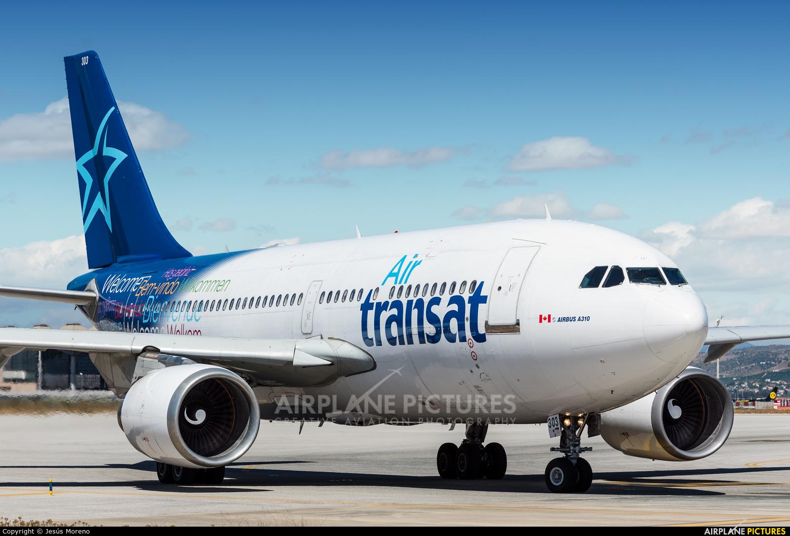 Air Transat C-GPAT aircraft at Málaga