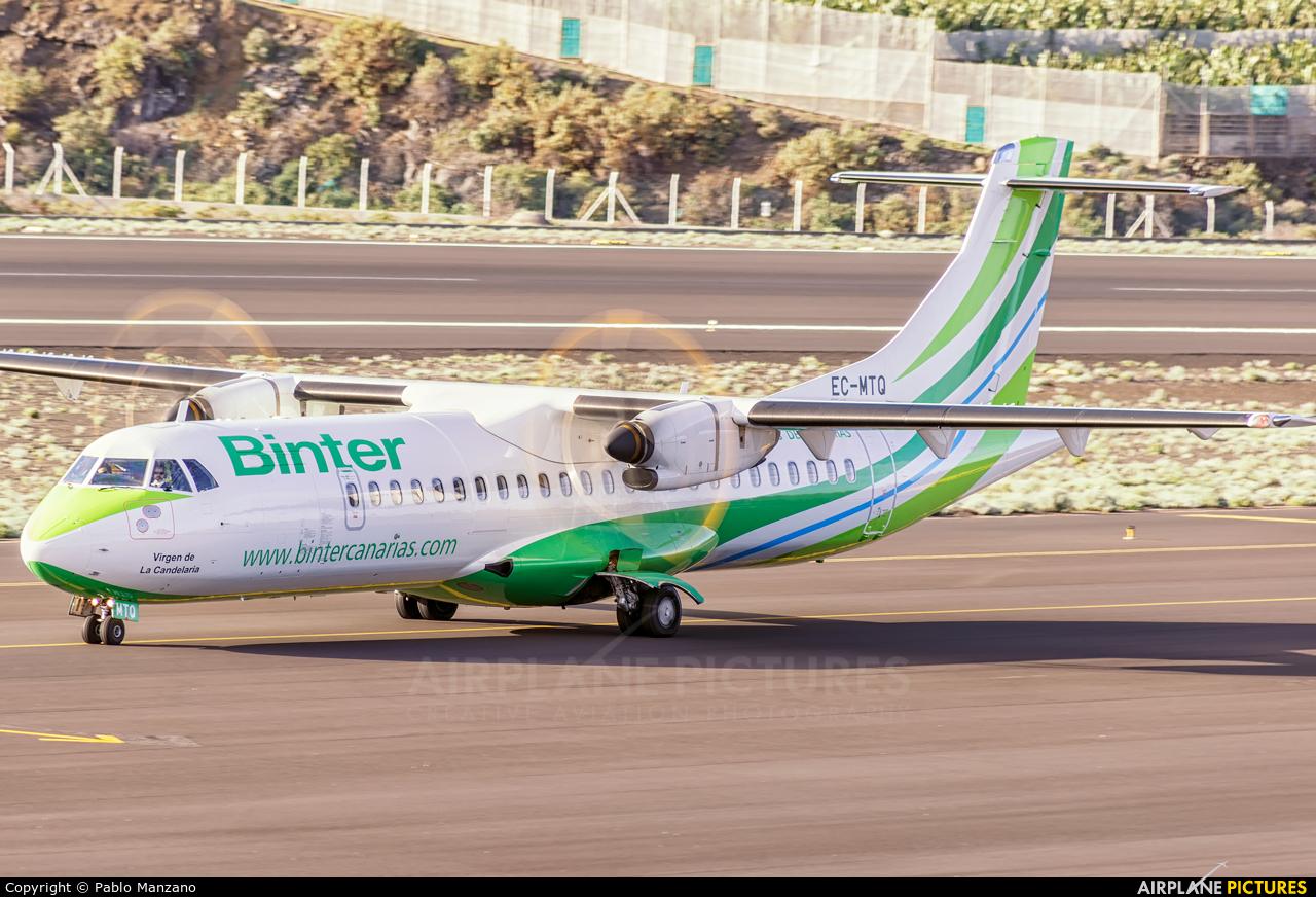 Binter Canarias EC-MTQ aircraft at Santa Cruz de La Palma