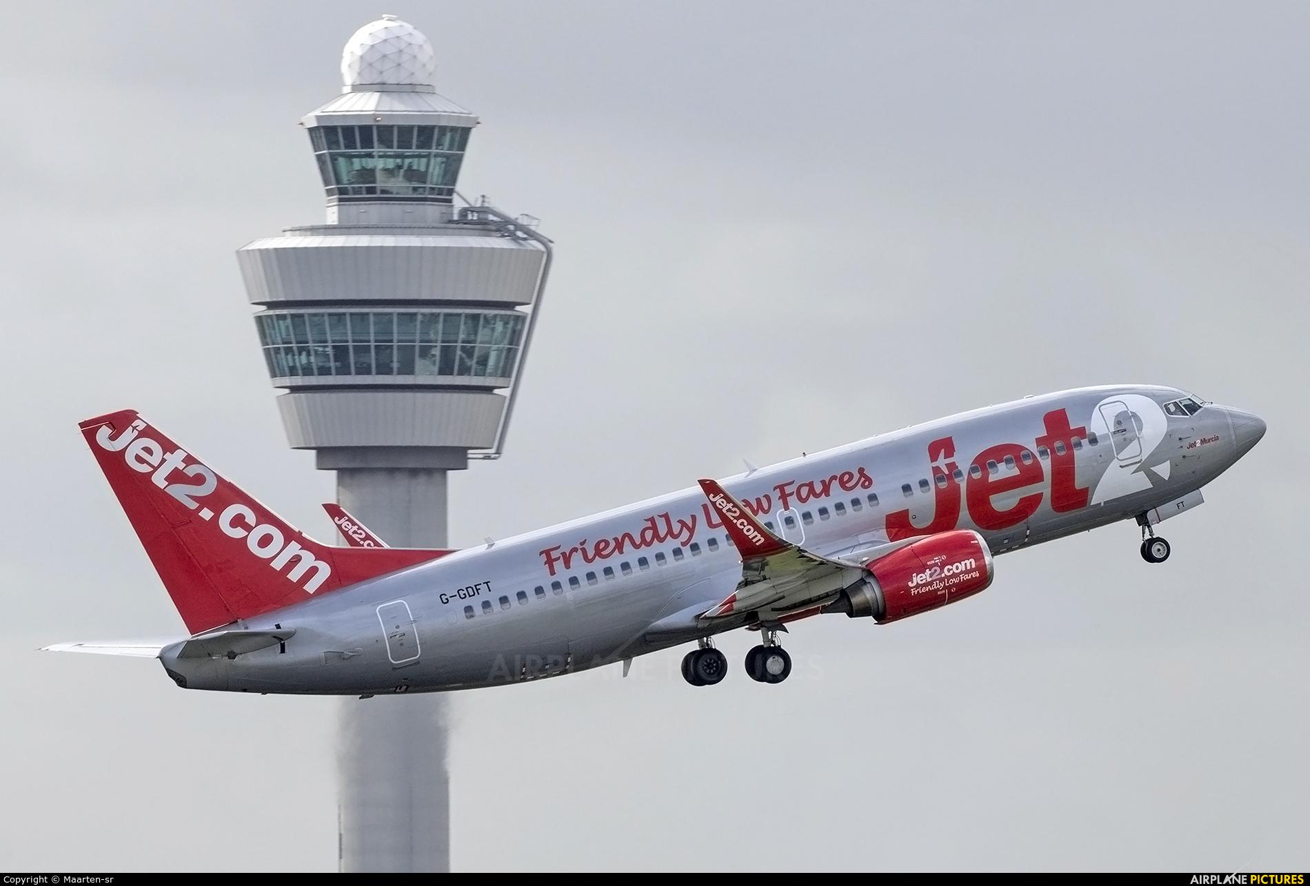 Jet2 G-GDFT aircraft at Amsterdam - Schiphol