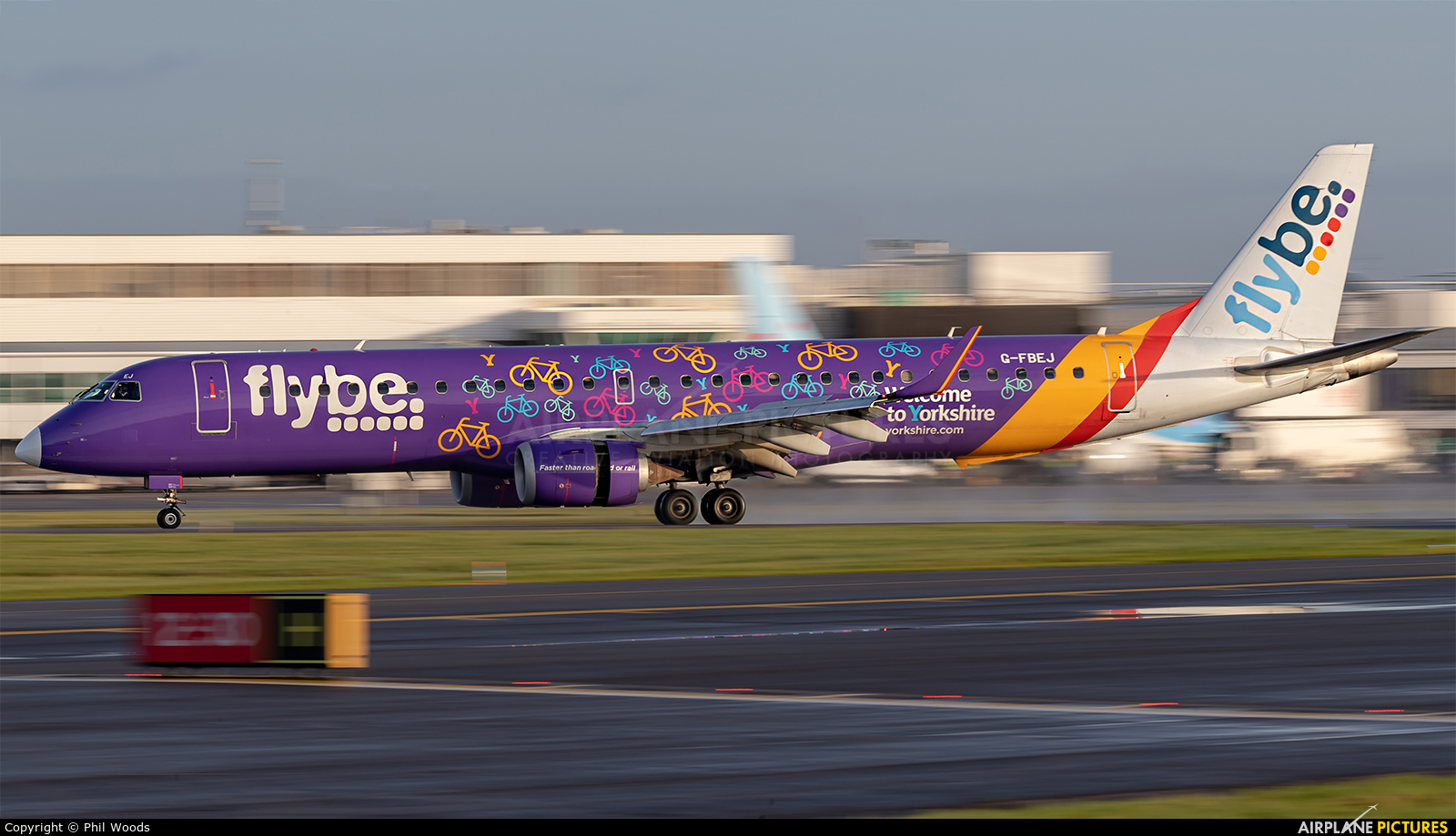 Flybe G-FBEJ aircraft at Cardiff