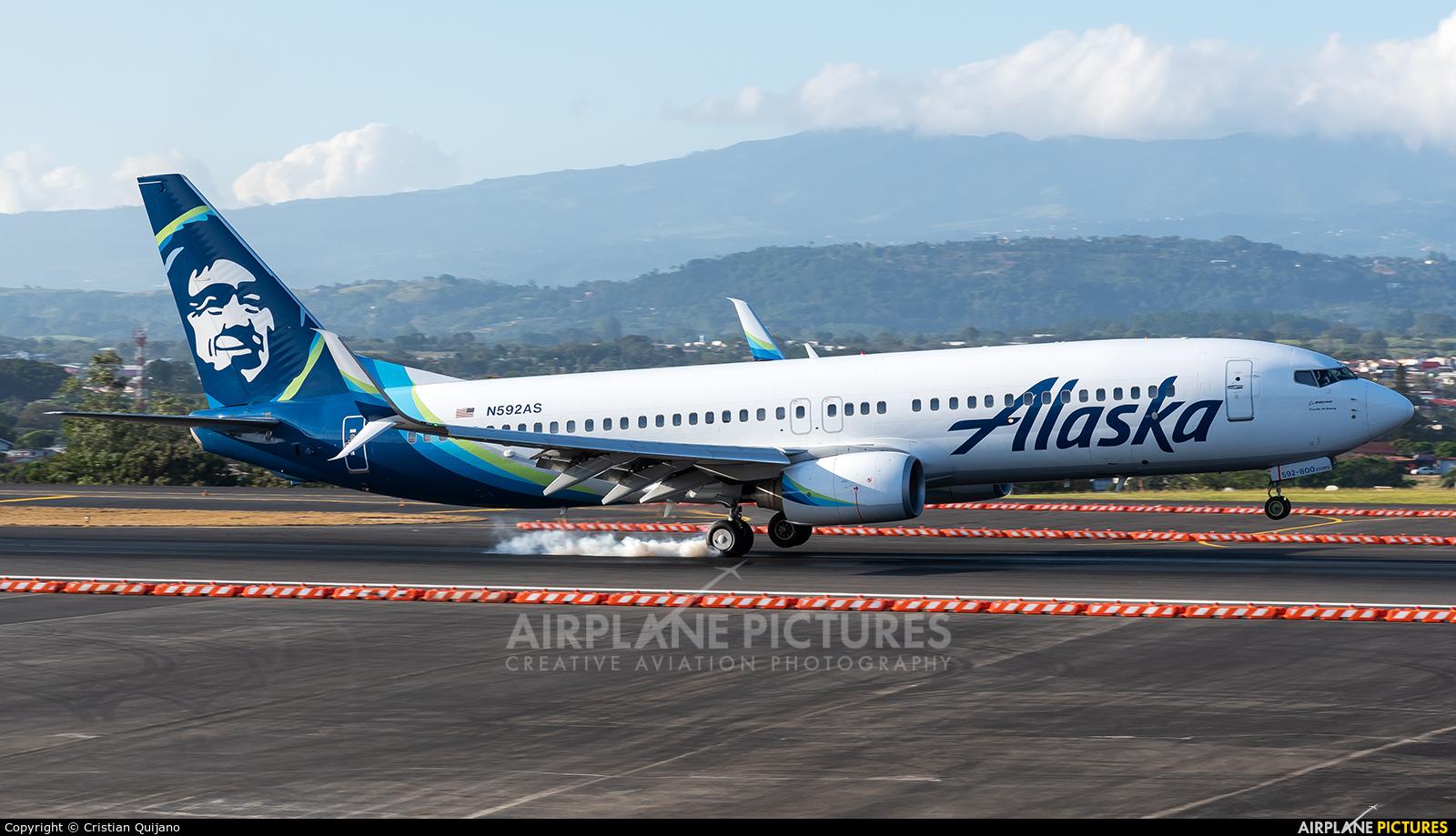 Alaska Airlines N592AS aircraft at San Jose - Juan Santamaría Intl