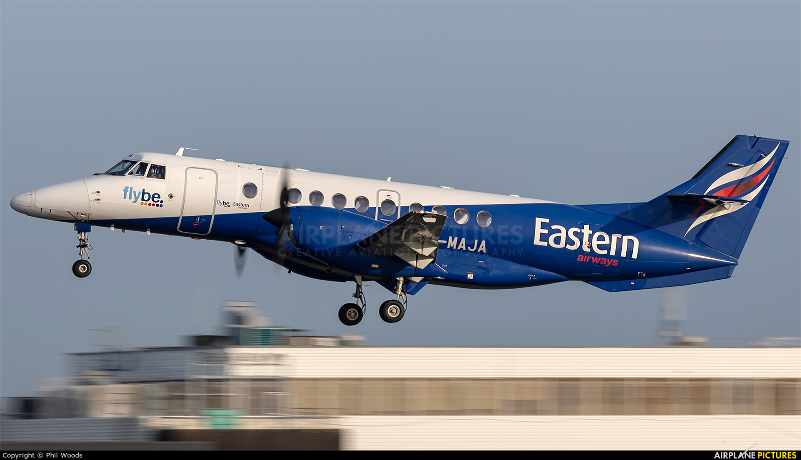 Eastern Airways G-MAJA aircraft at Cardiff