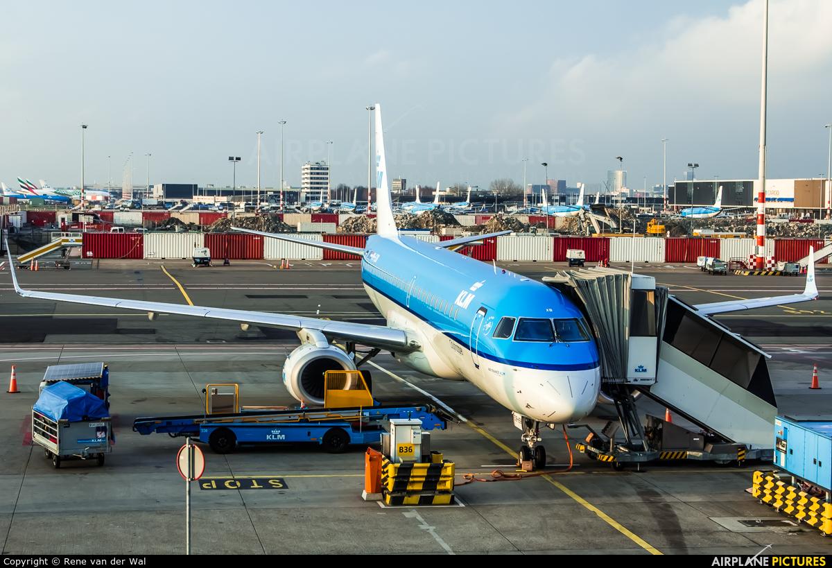 KLM Cityhopper PH-EXB aircraft at Amsterdam - Schiphol