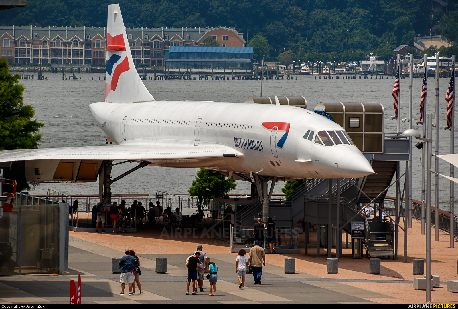 British Airways G-BOAD aircraft at New York - Intrepid Sea Air Museum