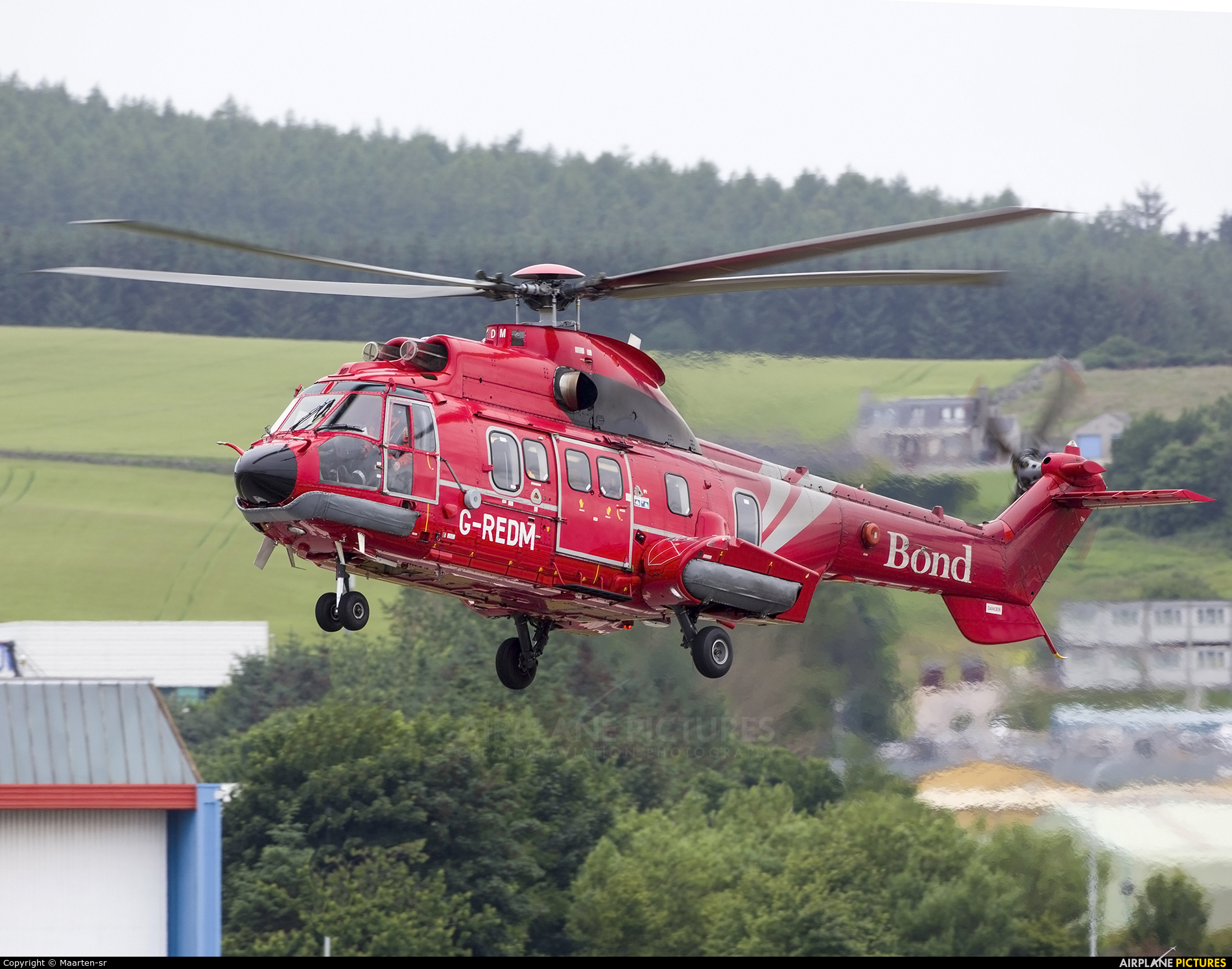 Bond Offshore Helicopters G-REDM aircraft at Aberdeen / Dyce