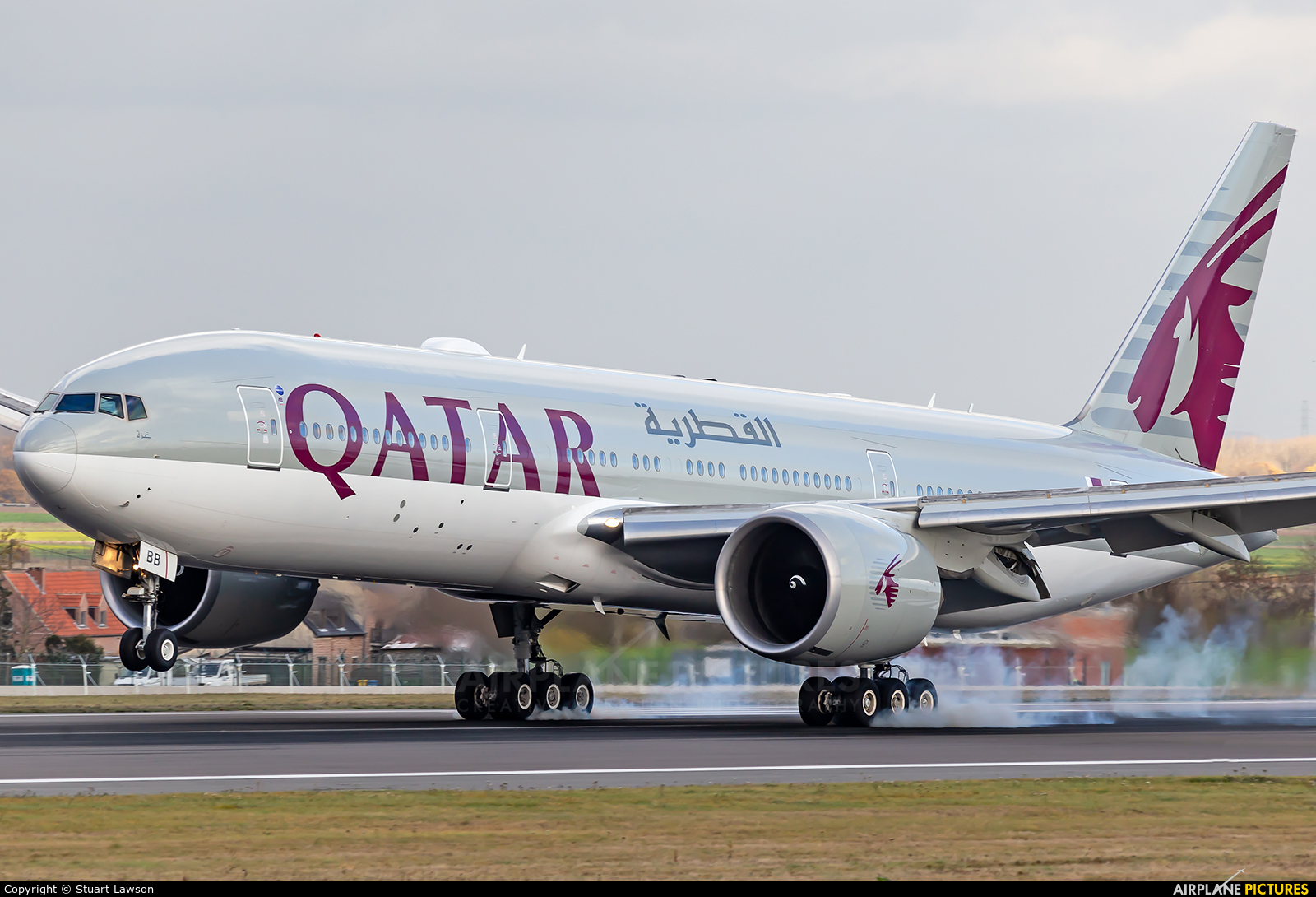 Qatar Airways A7-BBB aircraft at Brussels - Zaventem