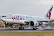 A7-BBB - Qatar Airways Boeing 777-200LR aircraft